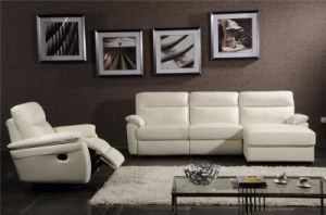 L Shape White Color Leather Recliner Furniture pictures & photos