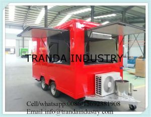 Roomy Wide Fry Cart Italian Vendor Cart Shop Ice Cream Cart pictures & photos