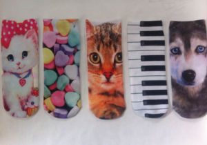 Factory 3D Animal Printed Sublimation Printing Cartoon Custom Boat Socks pictures & photos