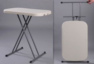 Plastic Personnal Adjustable Folding Table (SY-31SJ) pictures & photos
