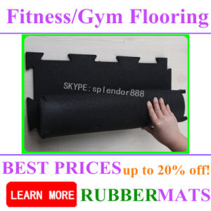 Elastic Shockproof High Quality No Smell Rubber Gym Flooring pictures & photos