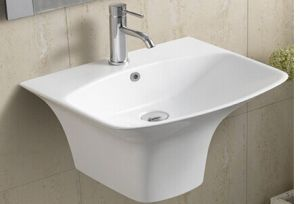 Ceramic Wall Hung Bathroom Basin (5200) pictures & photos