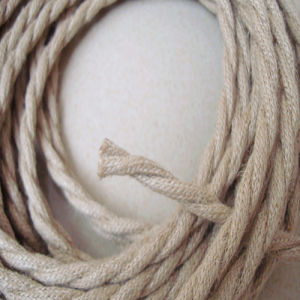 100% Fine Copper Circular Linen Braided Twisted Wire pictures & photos