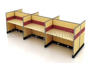 Modular 6 Seats Straight Yellow Office Workstation Partition (SZ-WS147) pictures & photos