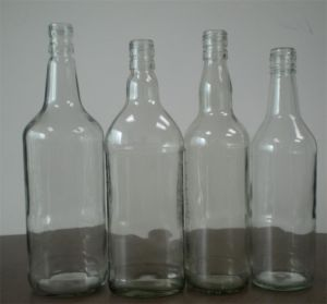 250ml, 375ml Clear Flat Glass Bottle/ Flask Glass Bottle pictures & photos
