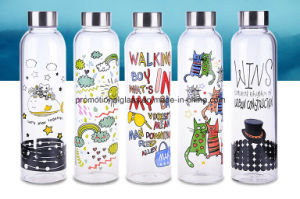 Sublimation Pyrex Glass Sport Bottle for DIY Logo