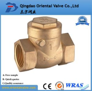 "1"" Inch Durable Professional Low Price Brass Spring Check Valve Brass High Quality pictures & photos"