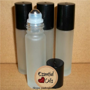 10ml Frosted Blue Roll on Oil Bottle with Silver Cap pictures & photos