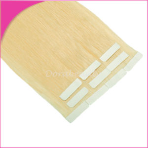 Golden Blond #613 Seamless 4X1cm Tape on Hair Extensions pictures & photos