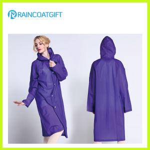 Waterproof EVA Fashion Women′s Raincoat pictures & photos