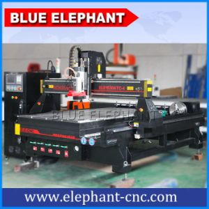 Ele 1530 3D Wood Cutting Machine, 4th CNC Wood Machinery with Auto Tool Changer Controller pictures & photos
