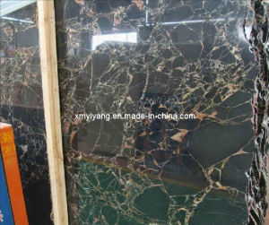 Mesh Portoro Black Marble Tiles for Wall and Floor / Kitchen pictures & photos
