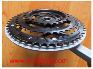 Black Bicycle Crank for 46t/44t/40t