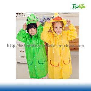 New Fit 90-130cm Cartoon Kids Raincoats for Children Rainwear & Blue, Green, Pink, Red, Yellow