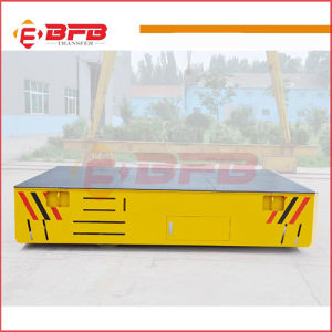 Battery Powered Motorized Trackless Transfer Cart for Steel Plant on Cement Floor pictures & photos