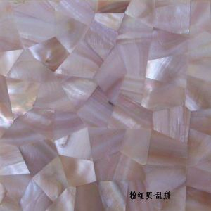 Pink Mother of Pearl Shell Mosaic Tile for Wall