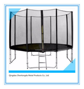 12FT Round Trampoline with Safety Enclosure and Ladder pictures & photos