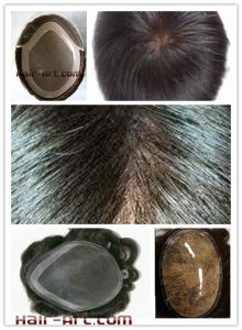 Lace & Injected Toupee with Lace Front & Skin Perimeter & Mono Top pictures & photos