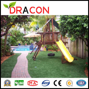 Four-Tone Playground Grass Artificial Turf (L-2006) pictures & photos