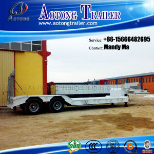 2 Axles Low Flatbed Semi Trailer, Low Loader Truck Trailer pictures & photos