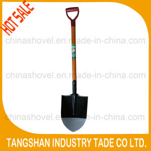 D Type Grip Wood Handle Point Steel Spade pictures & photos