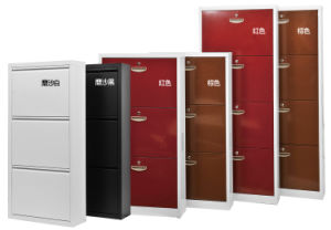 Fashion Style Colors Metal Shoe Cabinet-Use for Home pictures & photos