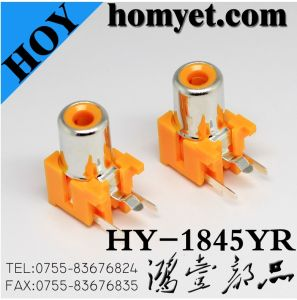 SMT Type RCA Jack with Slivering in Orange (HY-1845YR) pictures & photos