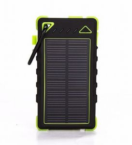 Dnk Factory New Arrival LED Dual USB Solar Cell Phone Battery Charger