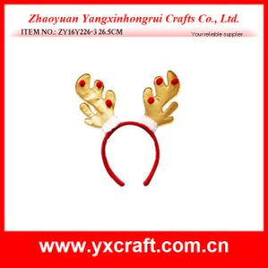Christmas Decoration (ZY16Y226-3 26.5CM) Golden Reindeer Decoration Headband pictures & photos