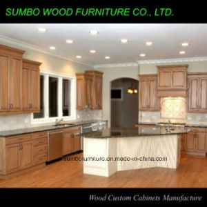 Natural Color Solid Wood Kitchen Cabinet (SBK-012)
