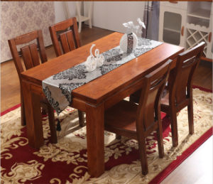 Modern Design Ash Wood Dining Table and Chair Set
