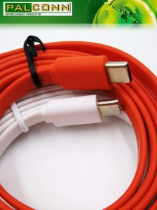 Type C Cable, White Flat Line, Load Current: 3A, Support Quick Charge pictures & photos