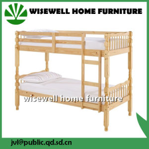 Solid Pine Wood Twin Over Twin Bunk Bed pictures & photos