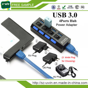 High Speed 4 Port USB 3.0 Hub with Power Adapter pictures & photos