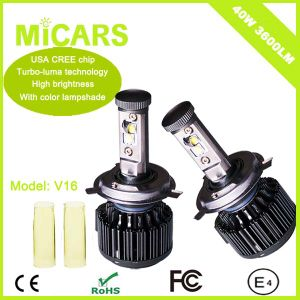 Car Accessories Auto Lighting V16 Turbo LED Headlight pictures & photos