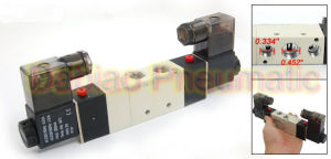 High Quality 1/4′′ 4V230c-08 AC220V 3 Position 5 Way Air Solenoid Valve pictures & photos