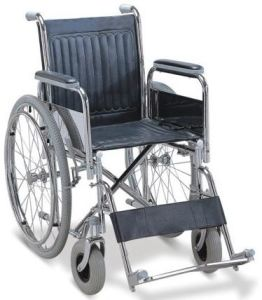 Aluminum Folding Wheelchair with Drop Back Handle pictures & photos