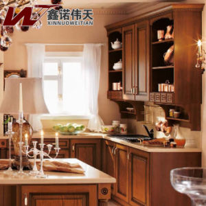 Newest Design Solid Wood Kitchen Cabinet Customized Kitchen Furniture pictures & photos