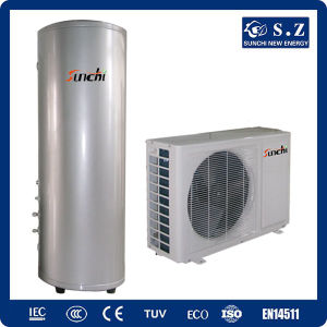 CE, TUV, Australia Certificate 220V R410A 3kw, 5kw, 7kw, 9kw Cop4.2, Max 60deg. C Shower Dhw Tankless Air Water Heat Pump Split System pictures & photos