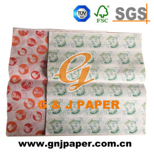 100% Wood Pulp Printing Grease Proof Paper for Food Packing pictures & photos