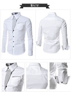 New Casual Shirts Long-Sleeved Men Shirt Business Casual Slim Fit pictures & photos