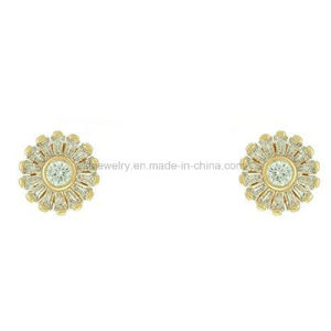 Fashion Style Plated Jewelry Gemstone Beads Ear Stud (KE3256) pictures & photos