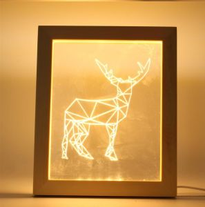 Creative Wooden 3D Frame Lamps LED Illusion Night Light with Various Designs for Christmas Birthday Gifts pictures & photos