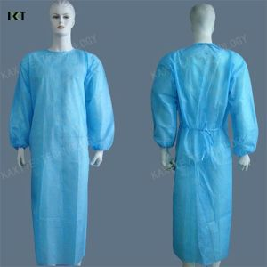 Breathable Non Woven Sterile Medical Gowns Disposable Acid Resistant pictures & photos
