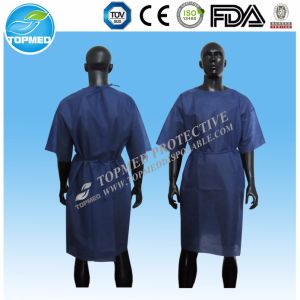 Disposable Nonwoven PP SMS PP+PE Child′s Patient Gown pictures & photos