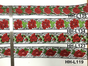 Manufacture Multicolor National Style Embroidery 3D Flower Lace pictures & photos
