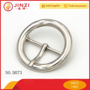Round Reversed Center Bar Buckle for Coat Belt pictures & photos