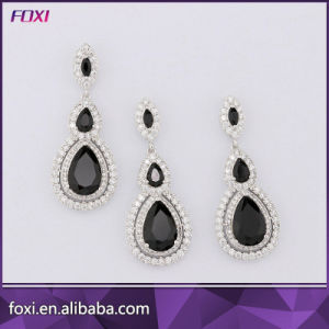 2016 Hot Sale Plated 18k Gold Fashion CZ Jewelry Set for Girls Party pictures & photos