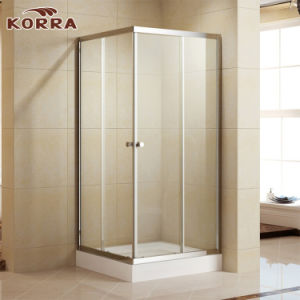 Tempered Glass Shower Enclosure with Two Sliding Doors (K-331) pictures & photos