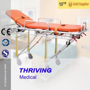 Hospital Ambulance Strecher Trolley (Aluminum Alloy) pictures & photos